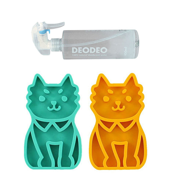 Cute Pet Massage Grooming Shampoo Brush with 100% Natural Pet Deodorizing Spray: Dog Bath Brush