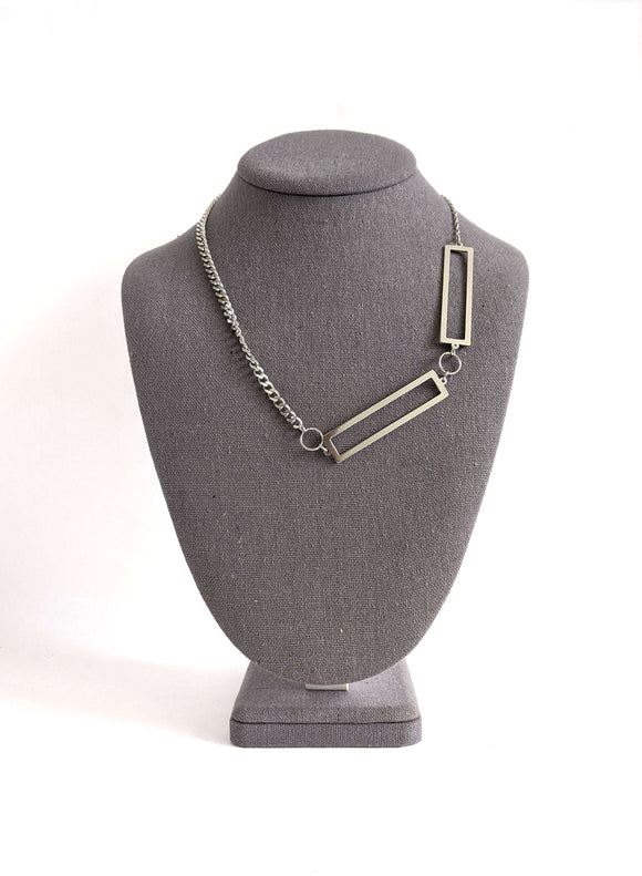 Double rectangle asymmetrical necklace Impulse Notion