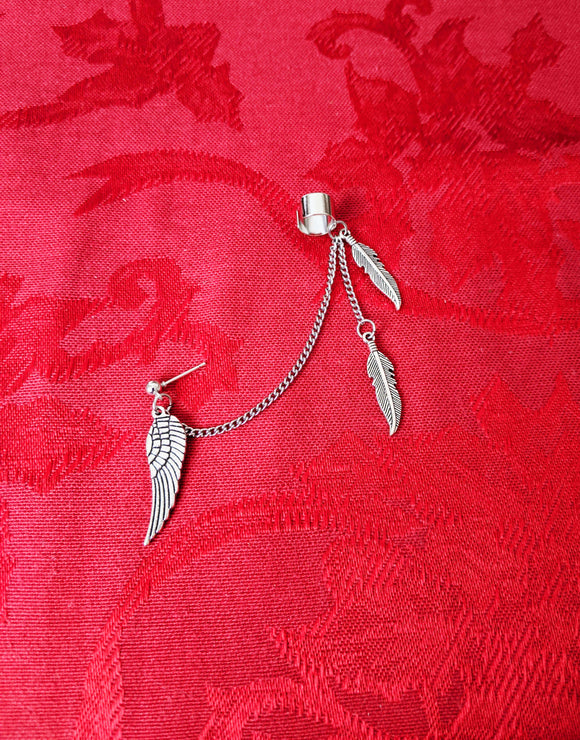 wing feather chain cuff earring Impulse Notion