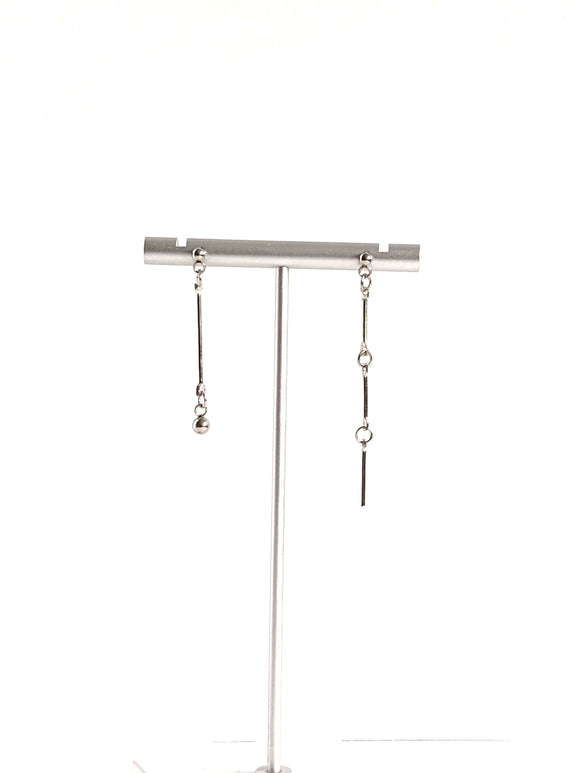 Gentle Mismatched Dangle Bar Earrings Drop