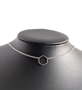 Hexagon Necklace Kpop Inspired Minimalist Jewelry