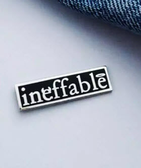 ineffable pin Good Omens
