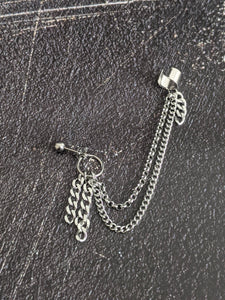 Chains Cuff Chain Earring Rakka: Kpop Inspired Jewelry