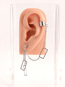 Rectangles Cuff Chain Earring: Kpop Inspired Jewelry