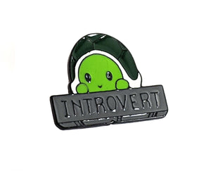 Introvert Turtle Pin