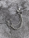 Circle Cuff Chain Earring: Chain Cuff Unisex Men's Earring
