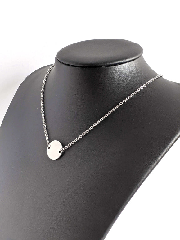 Disc Necklace Kpop Minimalist Jewelry