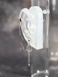 Bevel Tear Drops and Chains Cuff Chain Earring: Chain Cuff Unisex Men's Earring