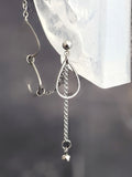 Rain Drop Chains Cuff Chain Earring: Chain Cuff Unisex Men's Earring