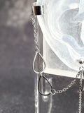 Bevel Rain Drops and Chains Cuff Chain Earring: Chain Cuff Unisex Men's Earring