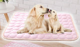 "Large Pet Cooling Mat Pad Washable Breathable Quilted (Pink 28"" x 40""): Large Dog Mat"