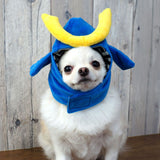 Pet Samurai Helmet Snood for Dogs and Cats: Samurai Dog Snood Costume