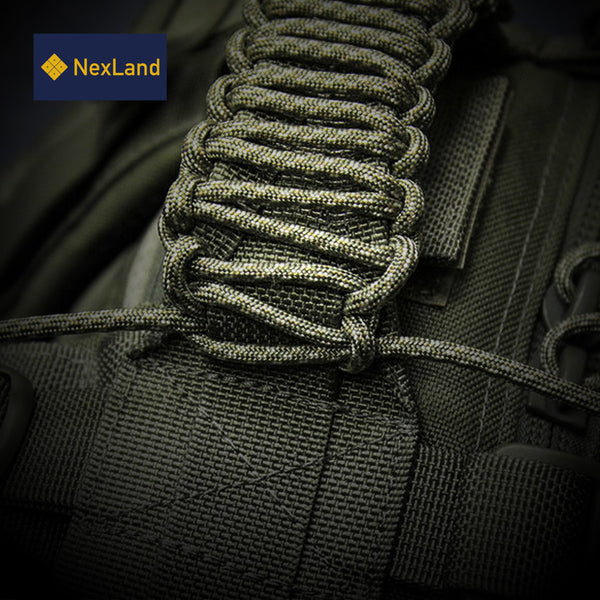 SP1 100FT Fire Paracord Combines Tinder with Small Carabiner Clip