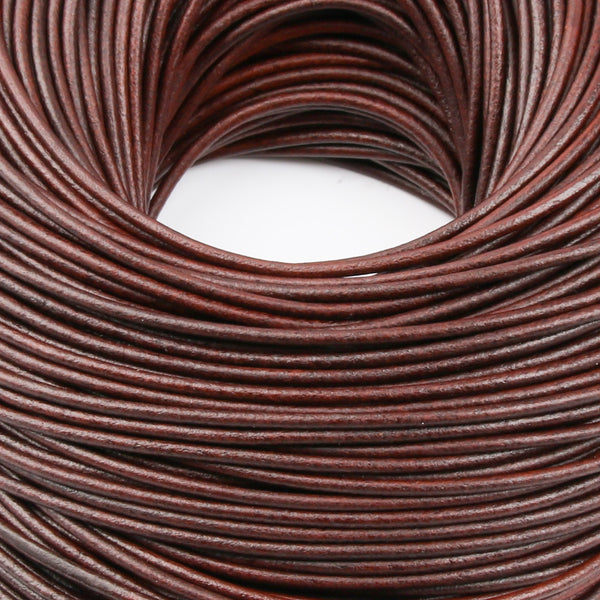 RC1 Round Leather Cord for Necklace, Bracelets and Jewelry Making Genuine Leather