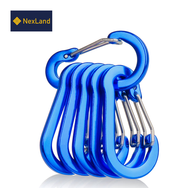 CC1 Mini Size Carabiner Clip Aluminum Construction Quickdraw 5cm