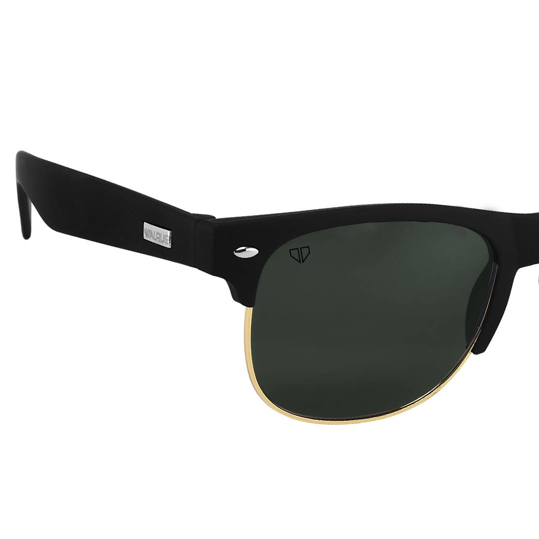 Levi Green Color Unisex Semi-Rimless Sunglass
