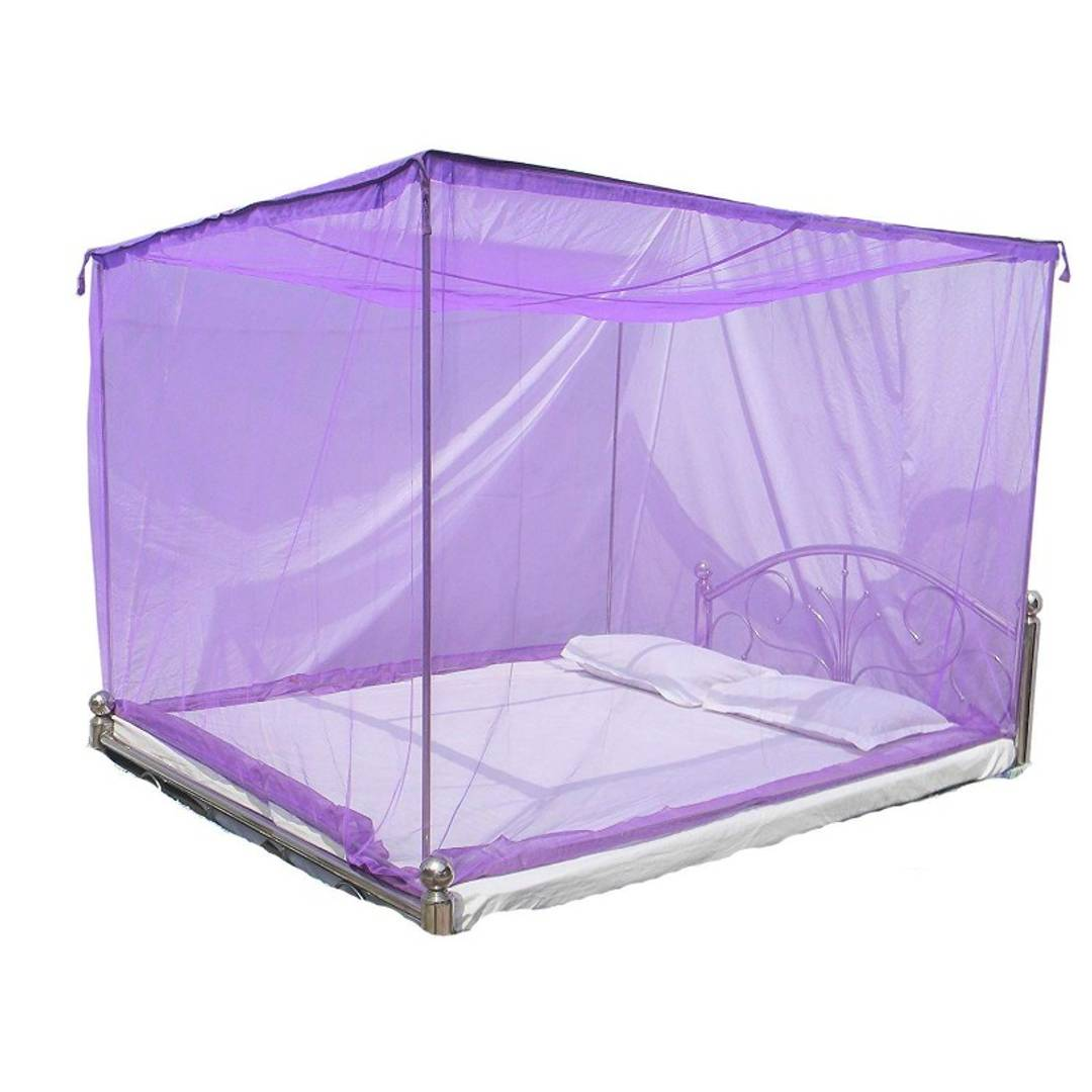 Solid Polyster Double Bed Mosquito Net