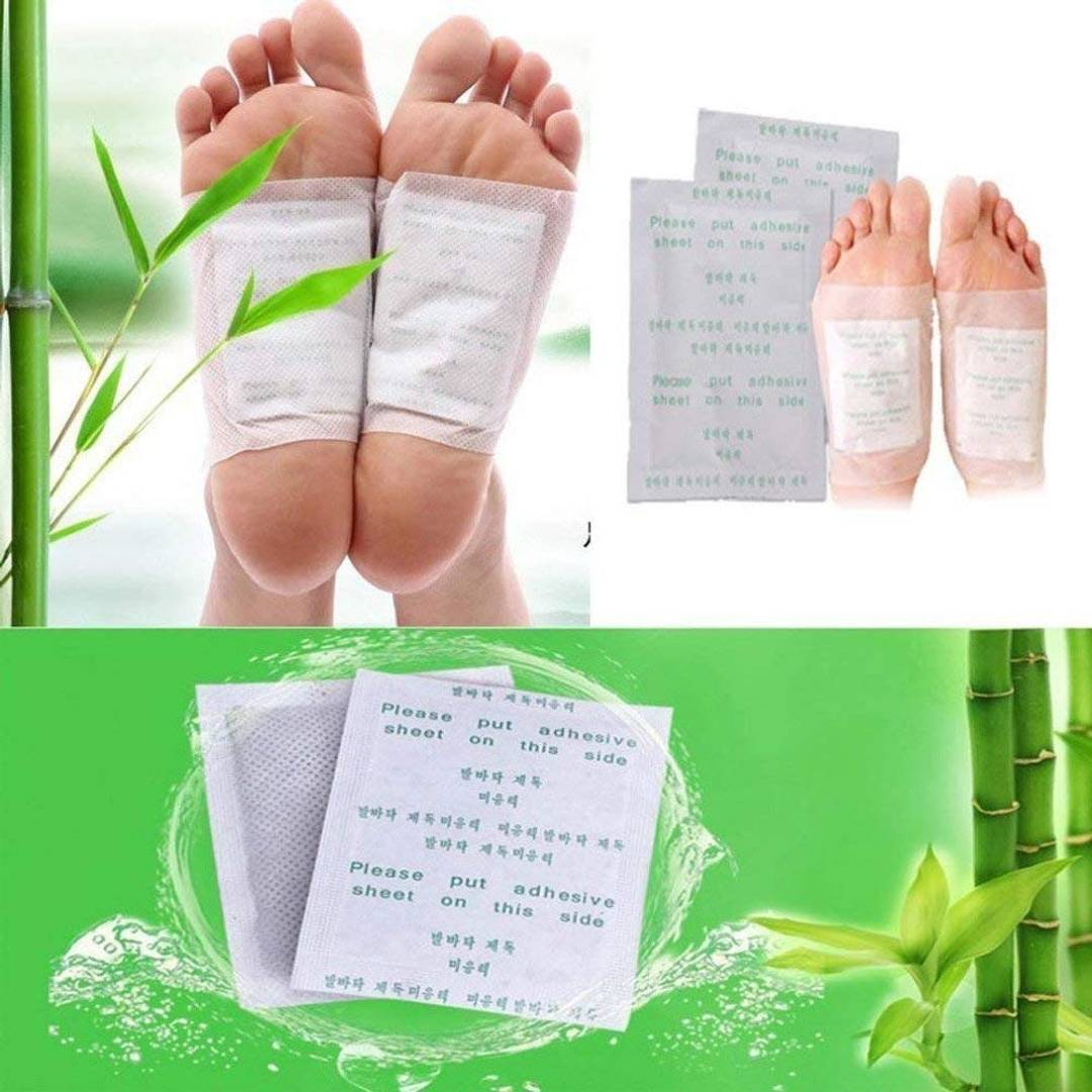 Foot Patches Toxins Remover Foot Crack Repair Fatigue Release Body Massager & Stress Relief Adhesive Pads - 20 Pieces