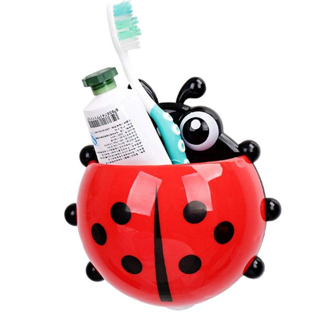 Ladybird Toothbrush Storage Organizer Holder - Pack Of 2(Assorted Color)