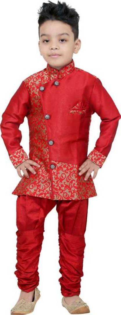 Boys Festive & Party Sherwani and Churidar Set