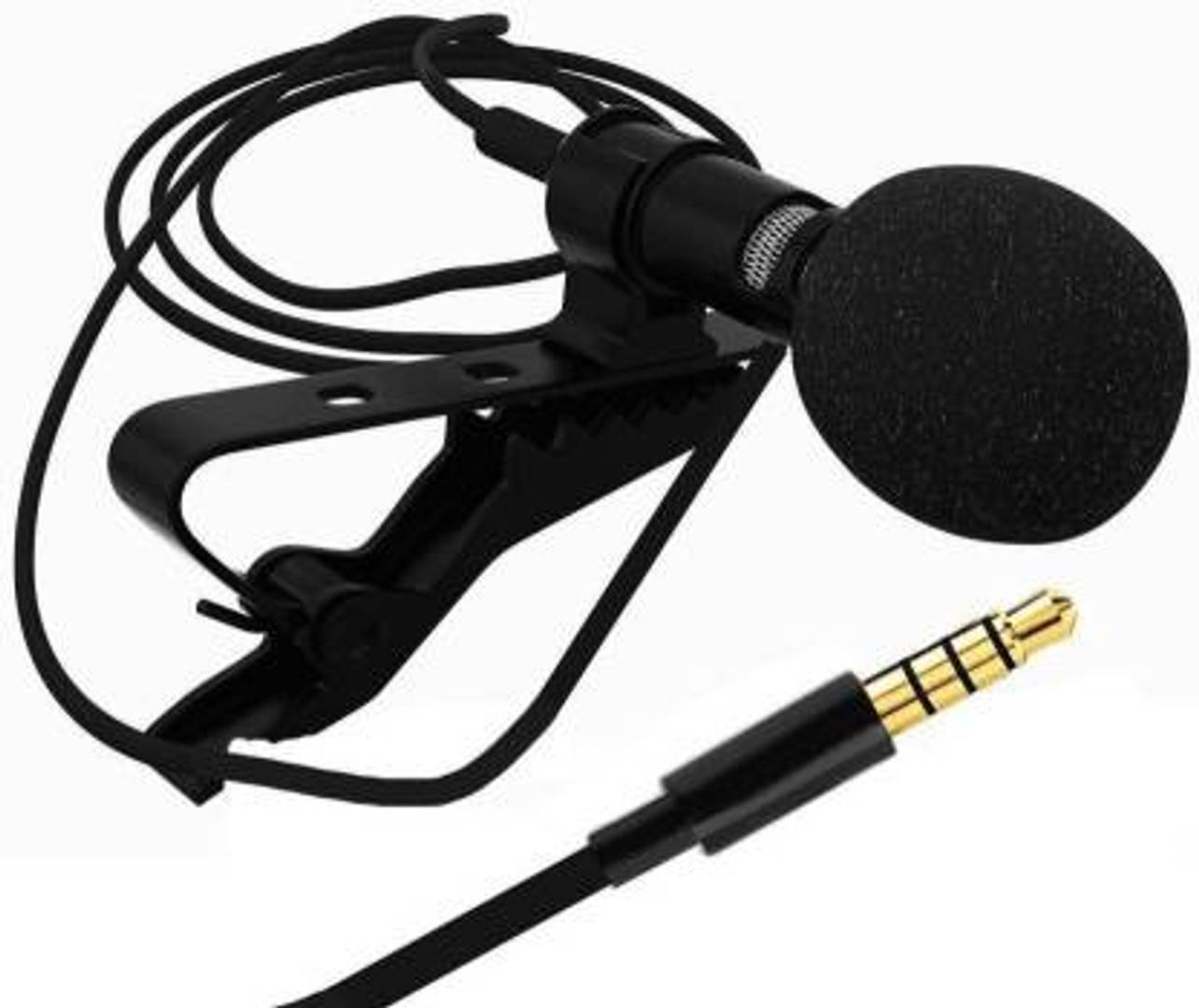 Black 3.5 mm Clip Microphone For Youtube