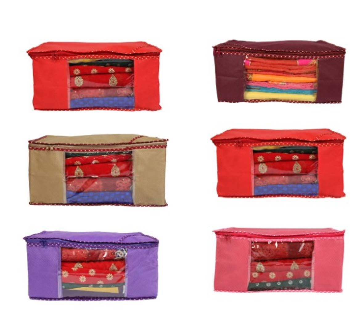 Trendy Non-Woven Saree Covers (Pack of 6)