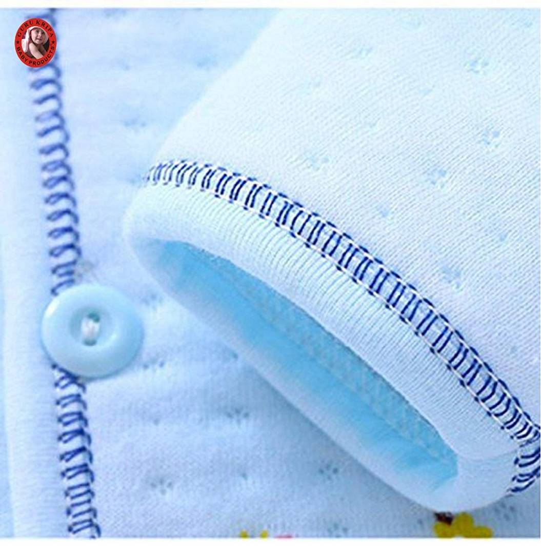 Newborn Baby High Quality Soft Feel Cotton Polyester Blend Top Pyjama With Cap And Bib Set For New Born Babies (0-3 Months) PRINT MAY VARY
