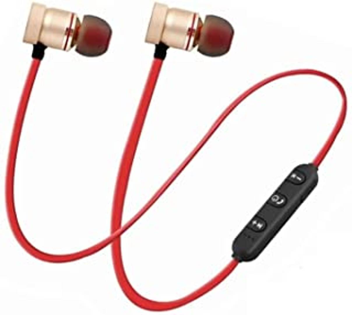 Bluetooth Wireless Headphone Sport Stereo Magnet Earbuds with Microphone Earphone for All Smartphones