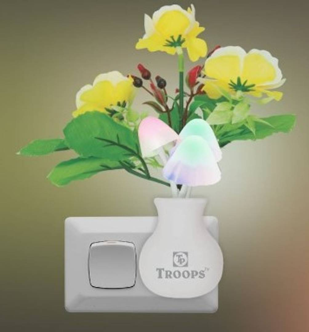 Flower Mushroom LED Night Lamp 7 Colour Automatically Changing Light