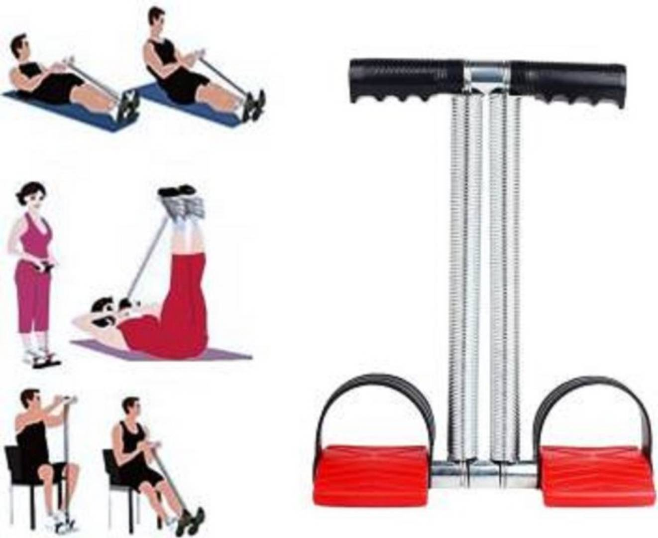 Double Spring Tummy Trimmer Home Gym Abdomen Leg Exerciser