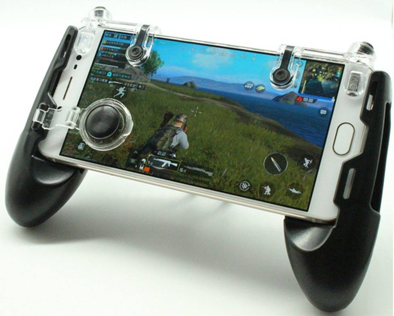 Stylish Black Mobile Game Controller Gamepad