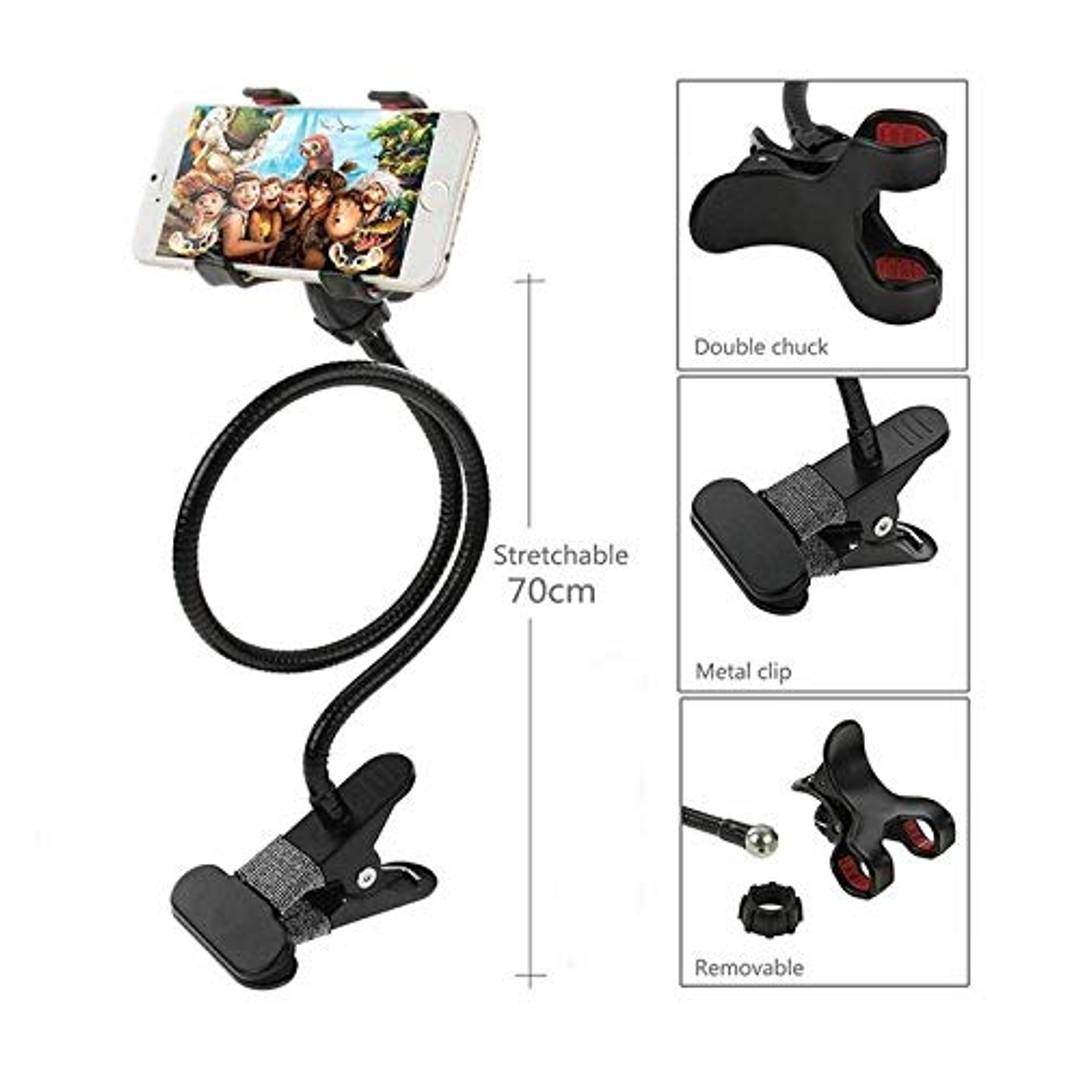 Cell Phone Holder, Universal Mobile Phone Stand, Lazy Bracket, Long Flexible Clip Mount For Smartphones In Office, Bedroom & Desktop (Assorted Colour)