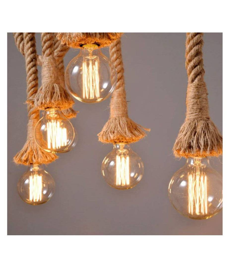 Astral Rope Type Hanging Light Wood Wall Light Brown - Pack Of 4