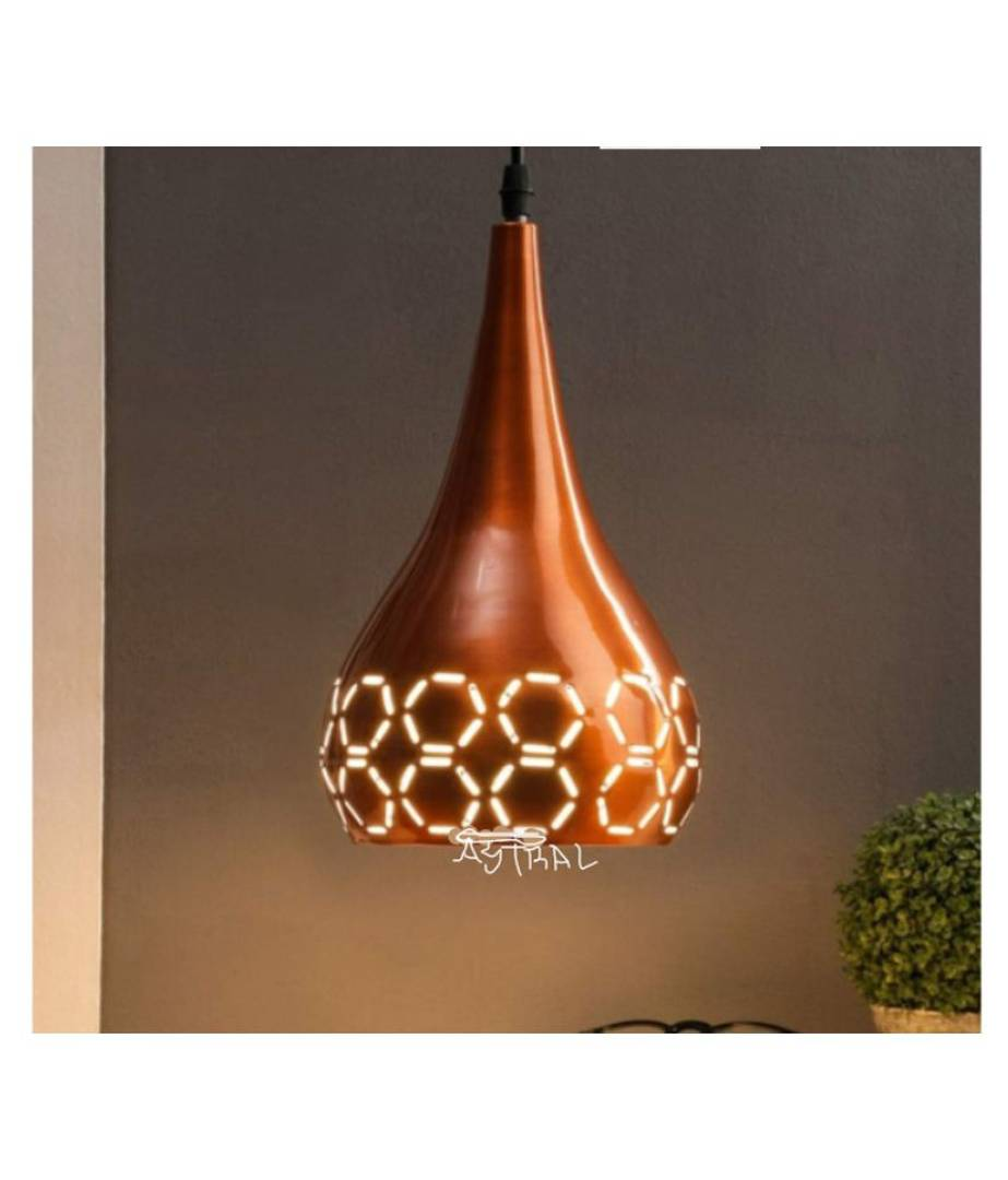 Astral Aluminium Astral Copper Antique Hanging Light Pendant Brown - Pack Of 1