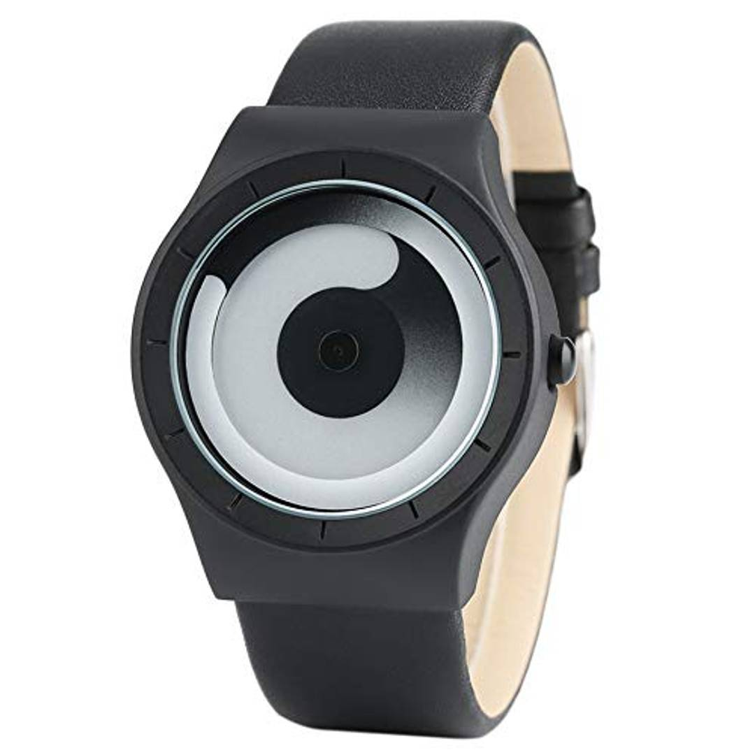 New And Attractive Swift Movement Black Spinner Dial  Watch For Men