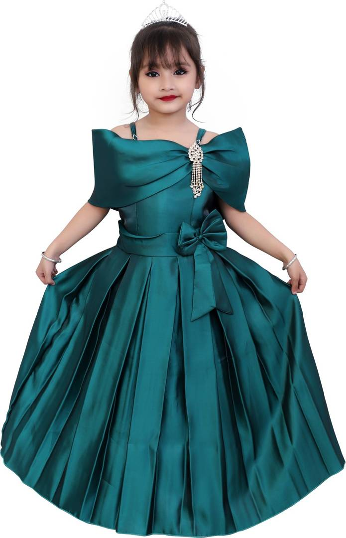 Green Silk Party Wear Dress