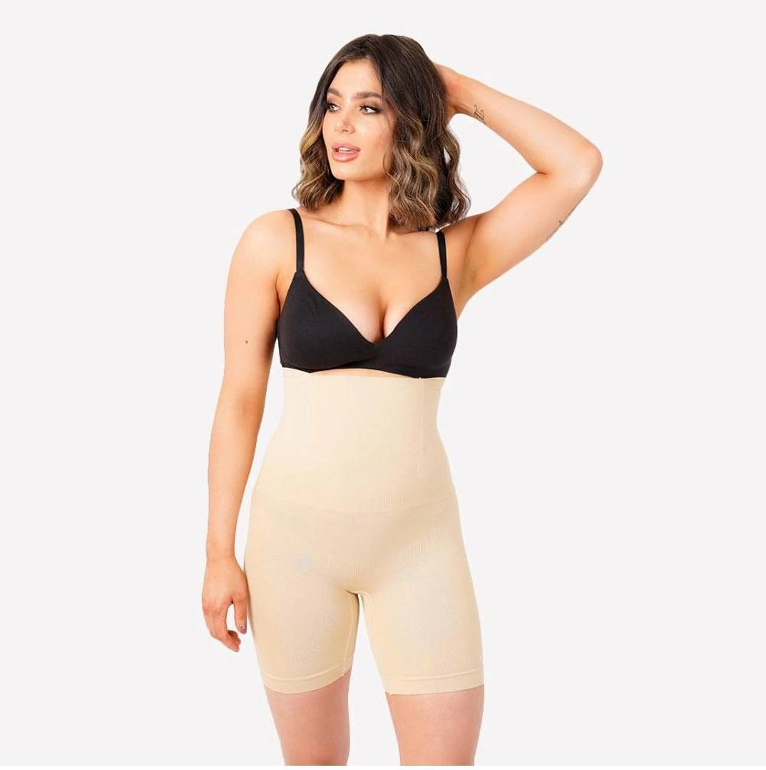 Women's High Waist Shapewear with Anti Rolling Strip Tummy Control Tucker