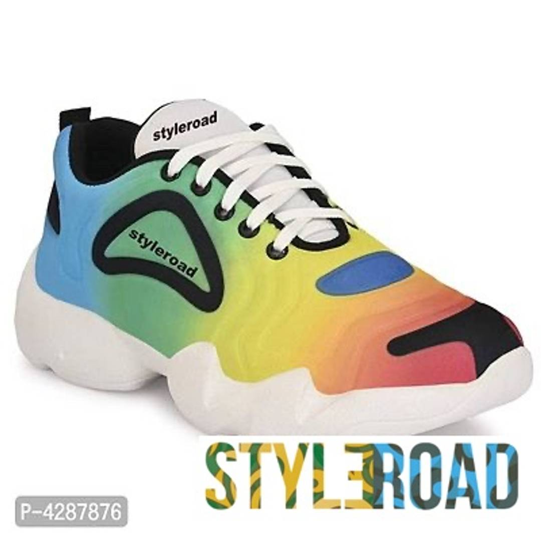 StyleRoad Stylish and Trendy Multicoloured Synthetic Casual Sneakers for Men's