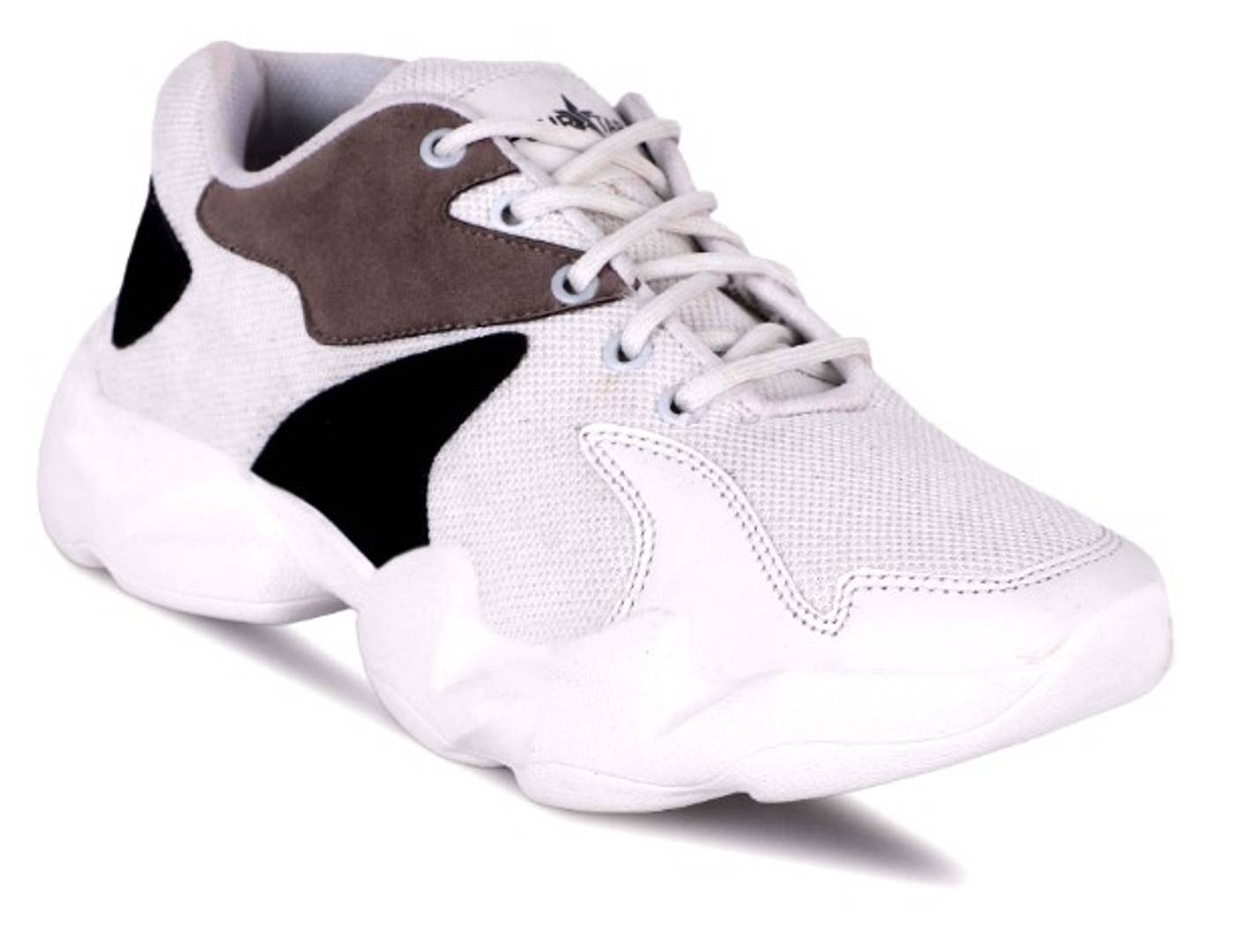 Comfy Mesh Solid Sports Shoe For Men