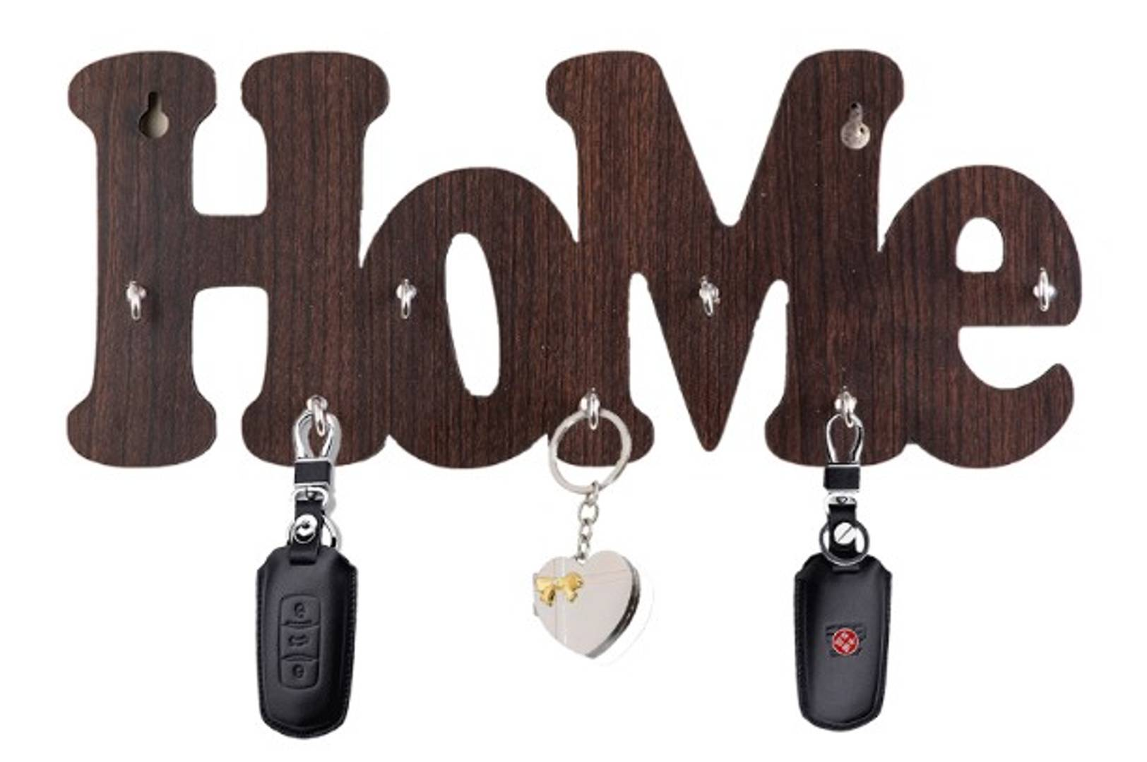 MSK Key Holder - Home Shaped - Coffee Colour - 7 hooks