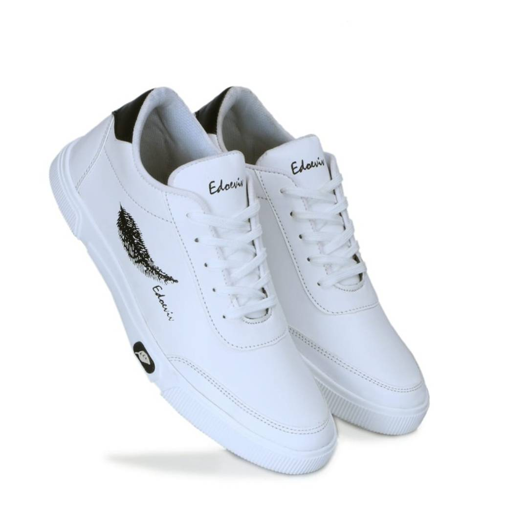 Men Synthetic White Solid Comfort Sport Shoes