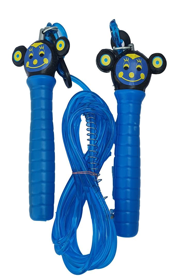 Kids Mickey Mouse Cartoon Adjustable Freestyle Skipping Rope (Blue, Length: 275 cm)