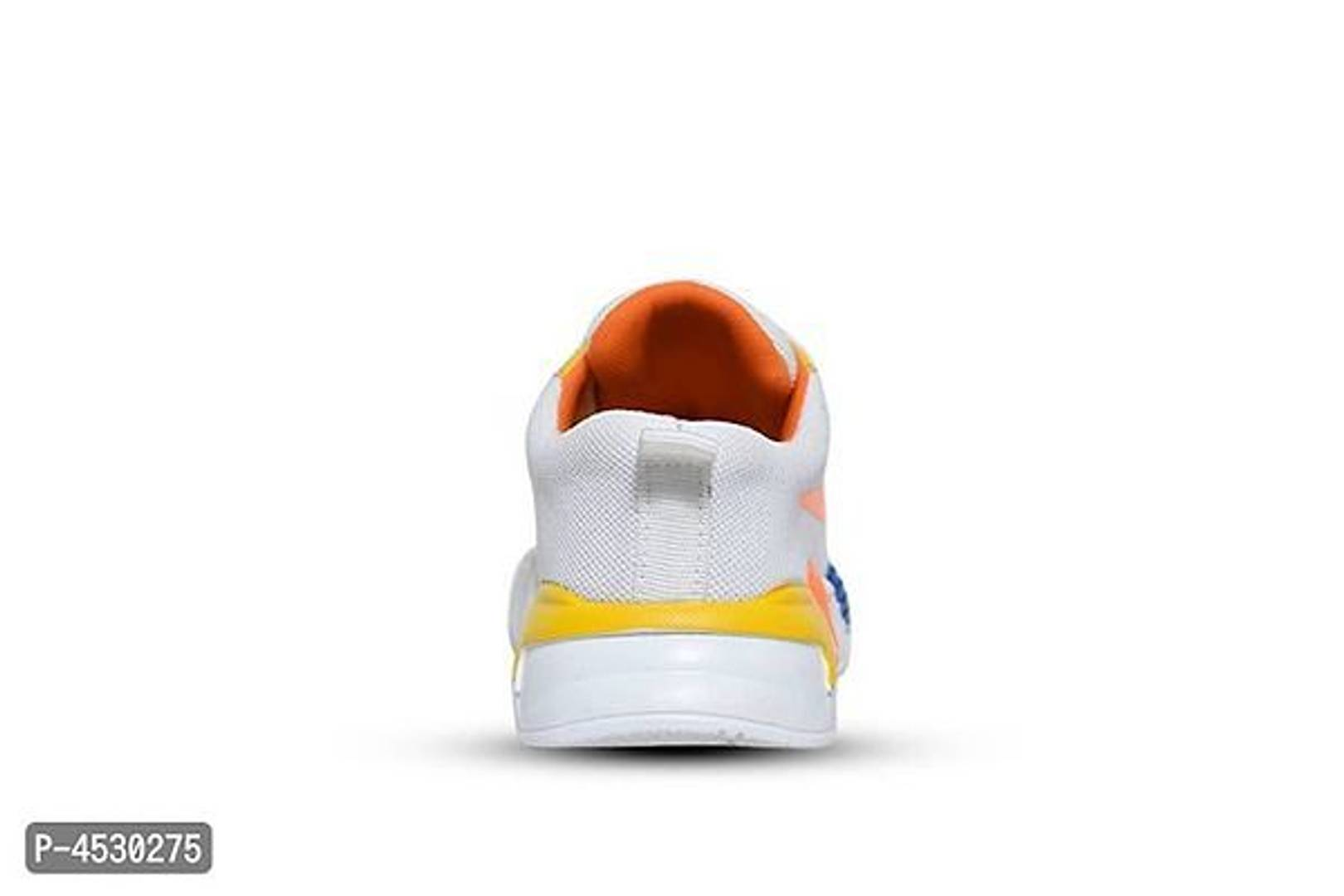 Men's Stylish and Trendy Yellow Self Design Mesh Casual Sneakers