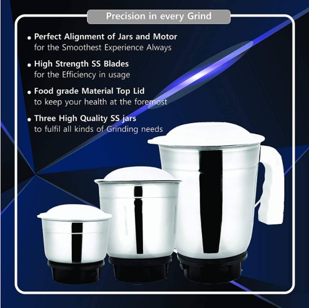 Useful Blue Mixer Grinder For Kitchen -3 Jars