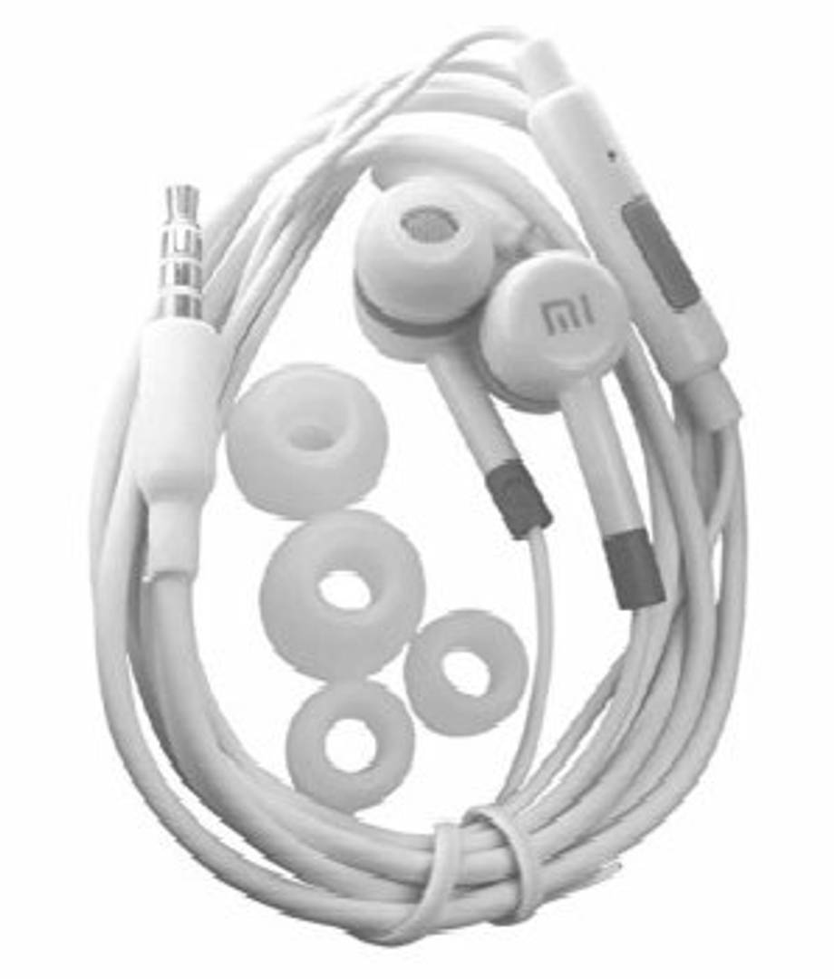 mi Ear buds Wired earphone with mic ( white)