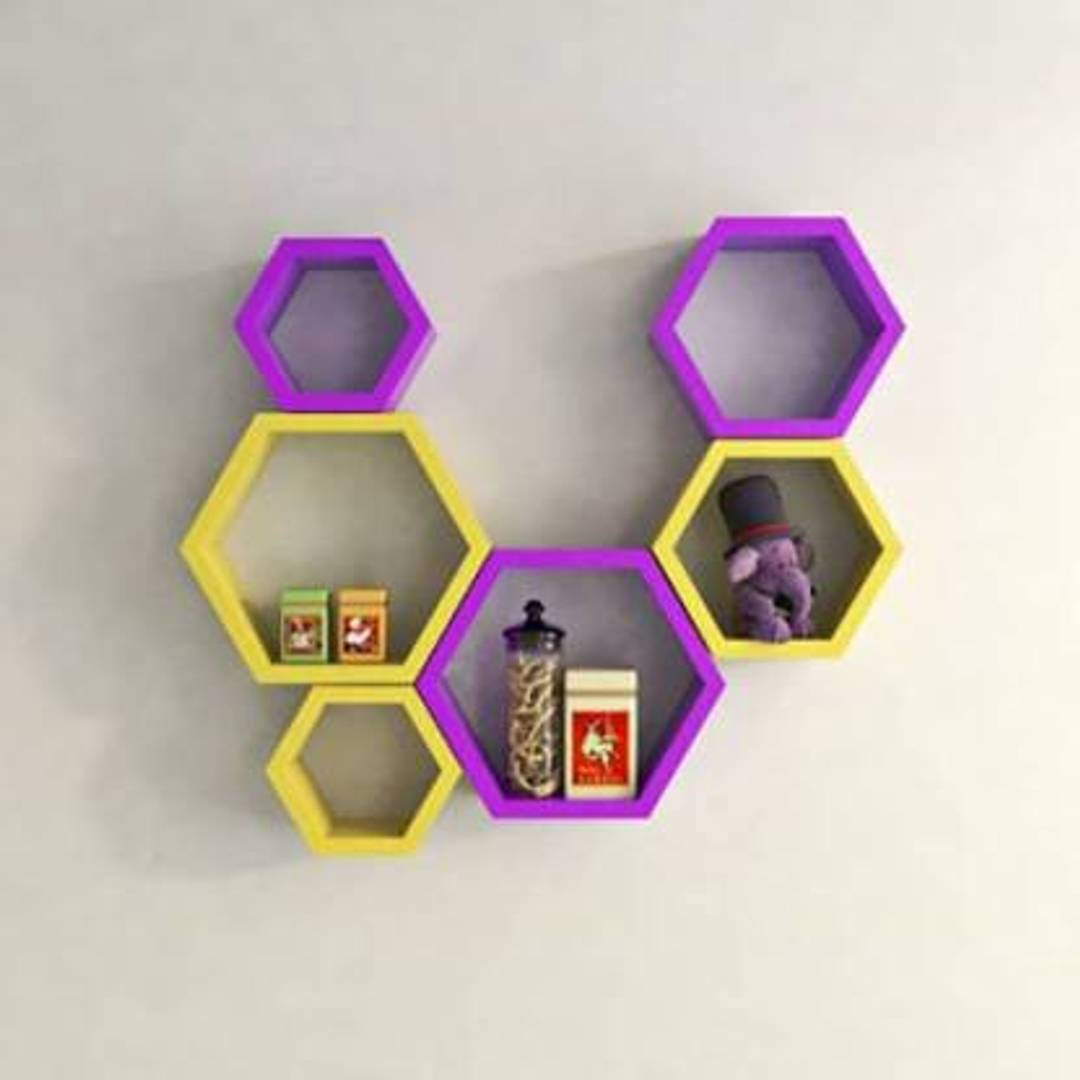 Wall Decorative Hexagonal Rack Shelf