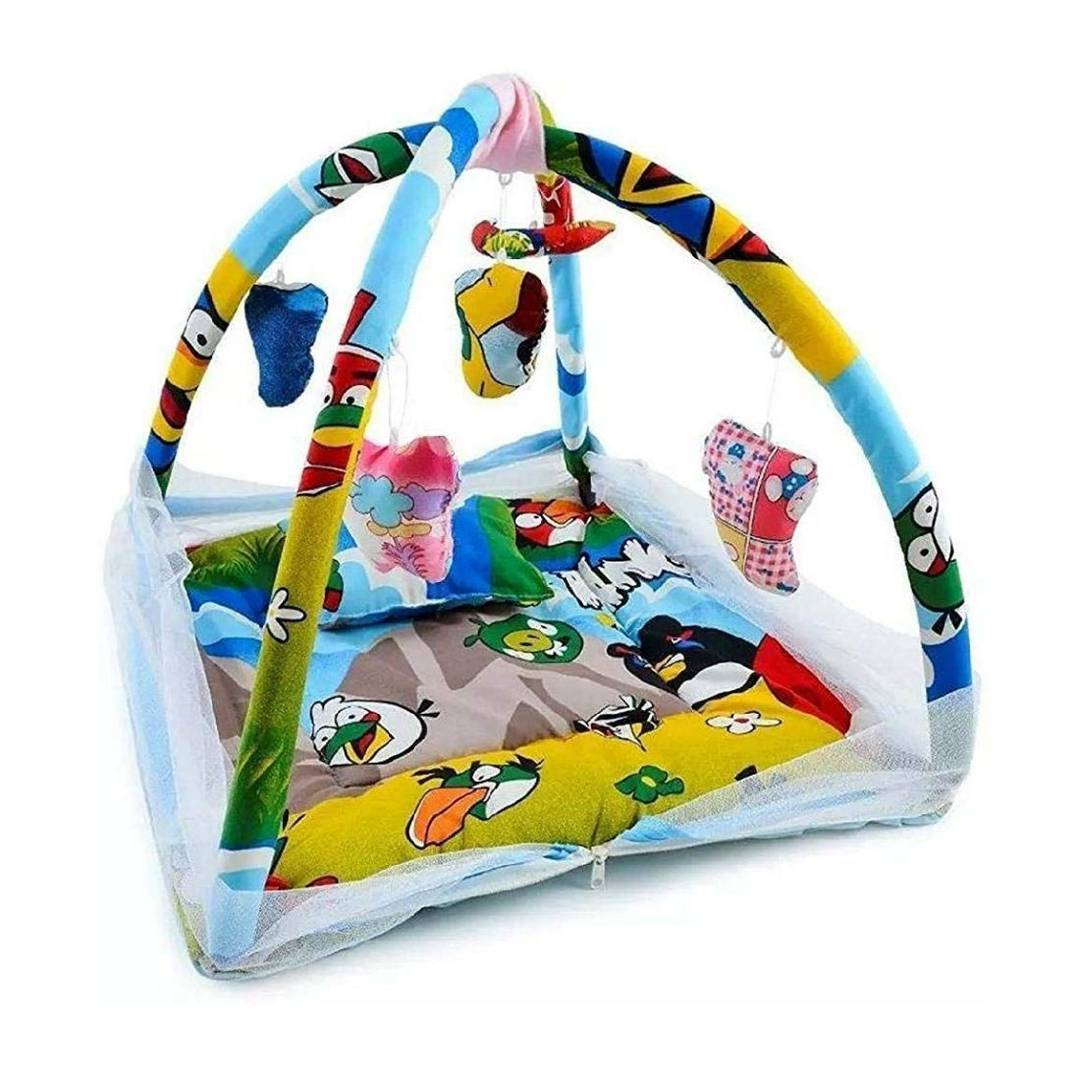 Baby Kick and Play Gym with Mosquito Net and Baby Bedding Set