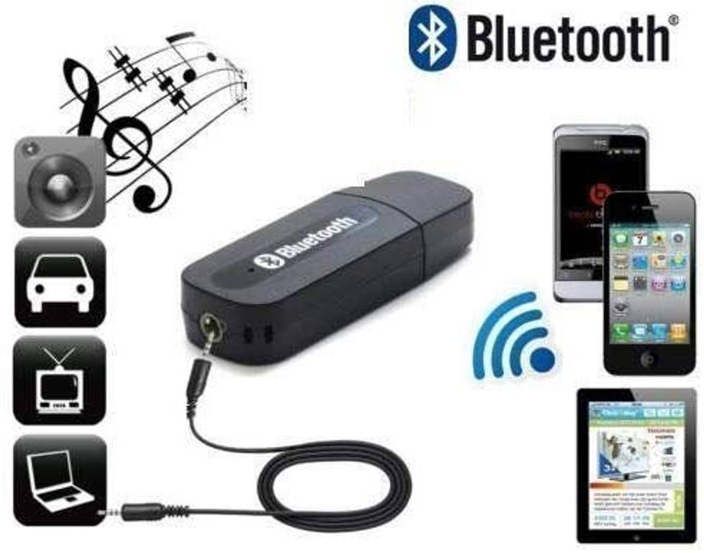 USB Bluetooth Audio Music Receiver Dongle Adapter Car Mobile Speaker