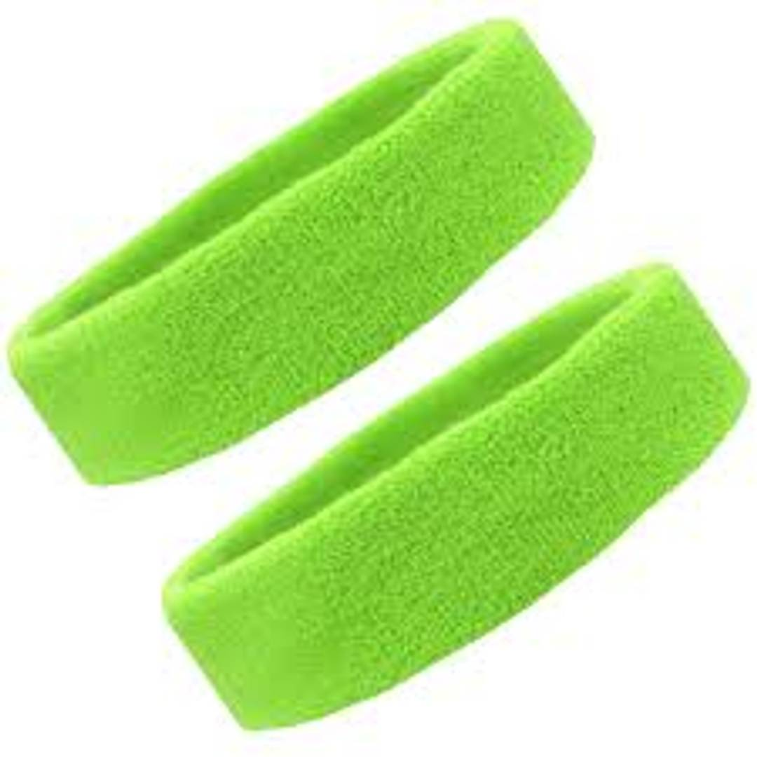 CASHWIN Cotton Sports Headband for Men and Woman for Cricket Tennis and All Other Sports (Green, Pack of 2)