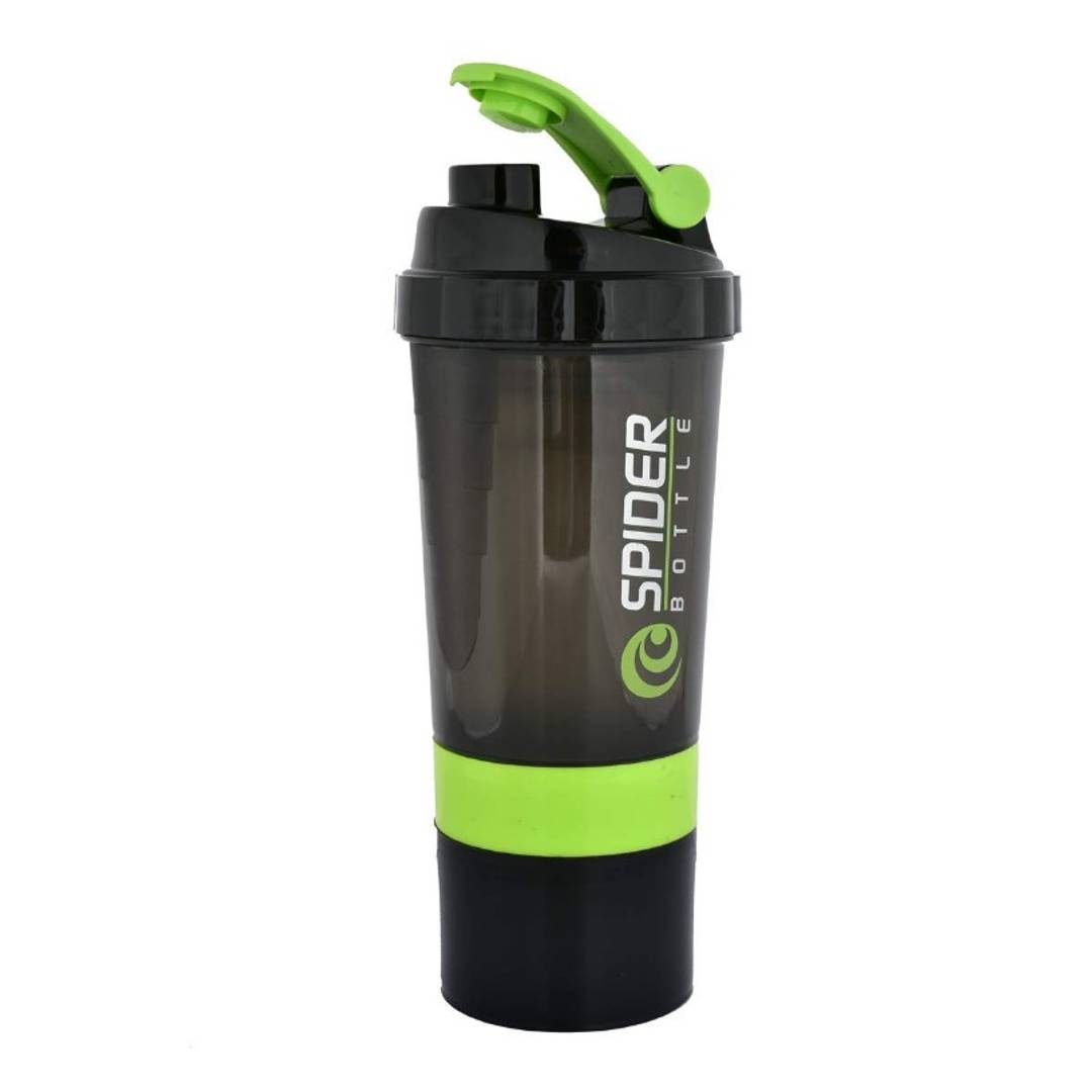 Spider Protein Shaker Gym Shaker | Cyclone Shaker Gym Bottle | Bpa Free 500ml (Green) by antc